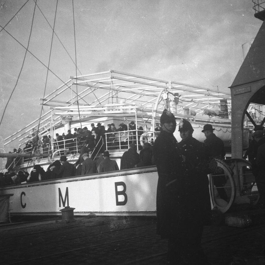 Anvers, 1936 - Embarquement sur le ss ANVERSVILE