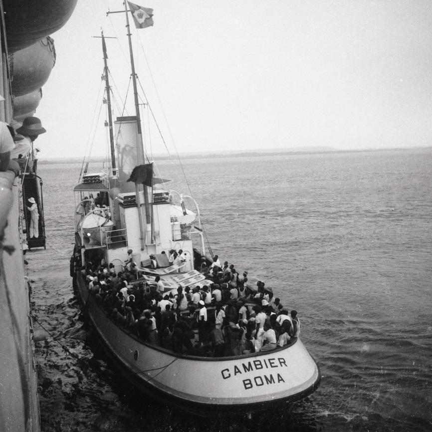 Banana, 1937 - du CAMBIER le pilote monte à bord du ss ANVERSVILLE