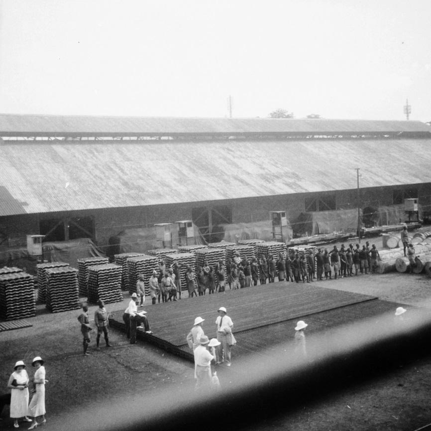 Boma, 1937 - le ss ANVERSVILLE à quai.