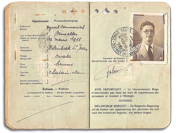 Passeport de Victor de Caluwé